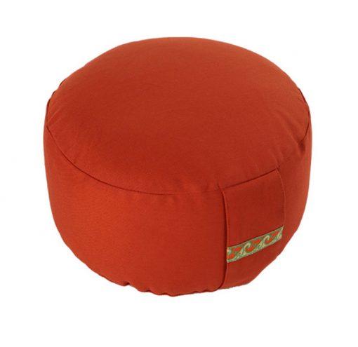 meditationskissen basic rot orange