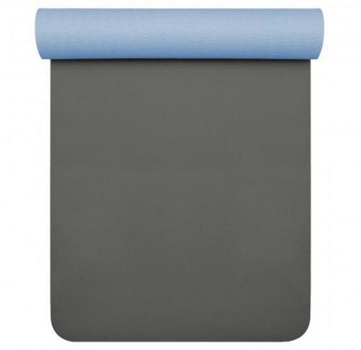 TPE Pro Yogamatte anthrazit lichtblau