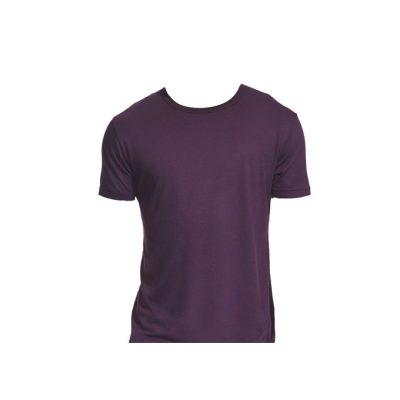 Herren T-Shirt bamboo aubergine