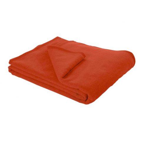 baumwolldecke rot orange