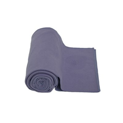 yogahandtuch quick dry lila grau