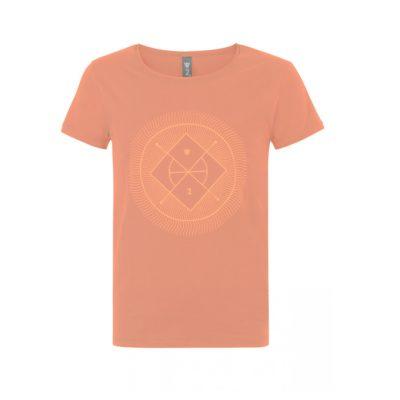 wellicious yoga t shirt yoga tee orange