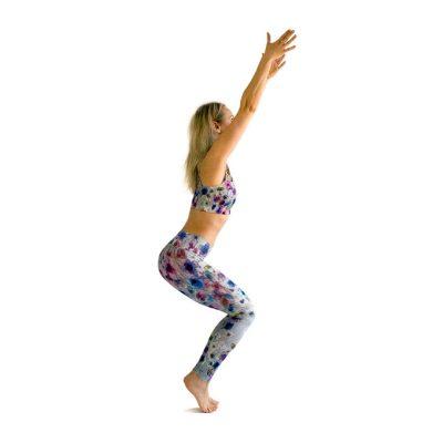 yoga leggings soft flowers