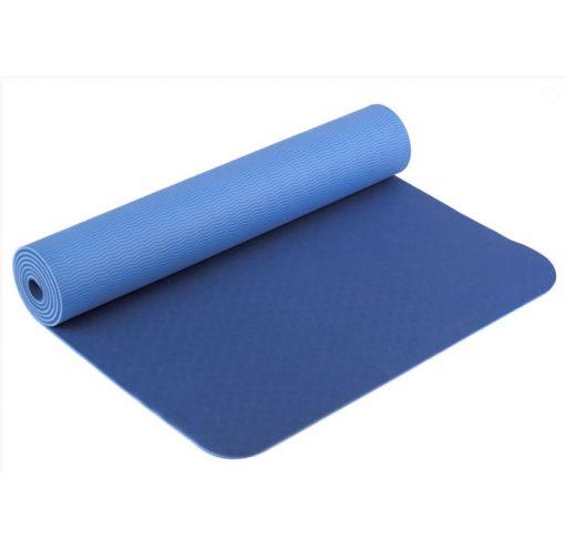 yogamatte tpe blau