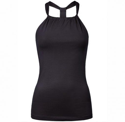 mandala fashion neckholder top black 1