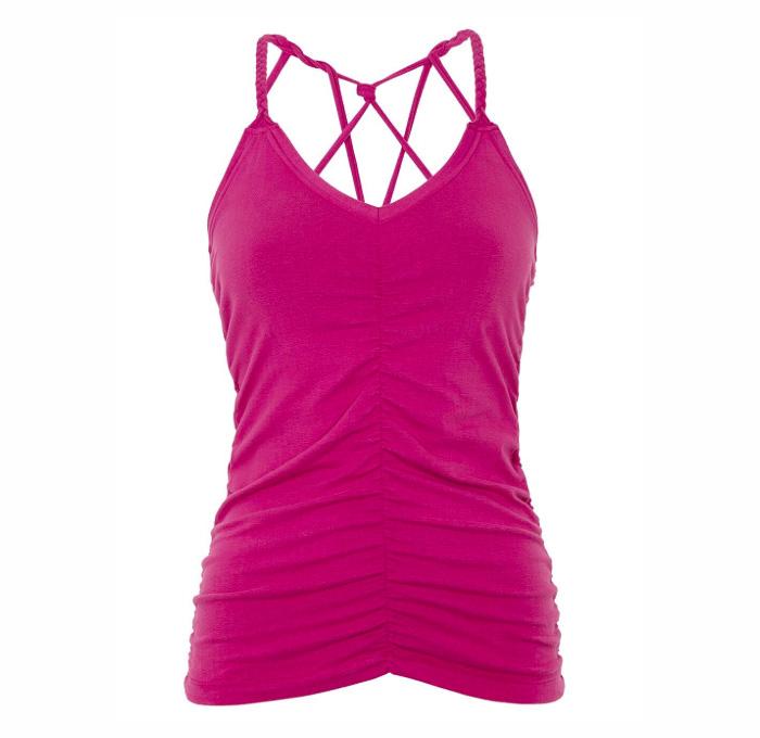 Mandala Cable Yoga Top Pink Gr S Little Yoga Store