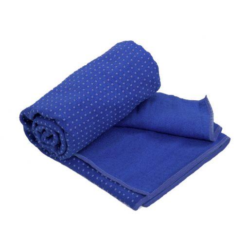 yogahandtuch antirutsch blau 2