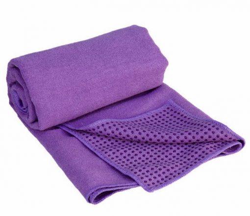 yogahandtuch antirutsch violett