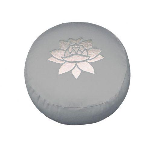 Meditationskissen lotus grau