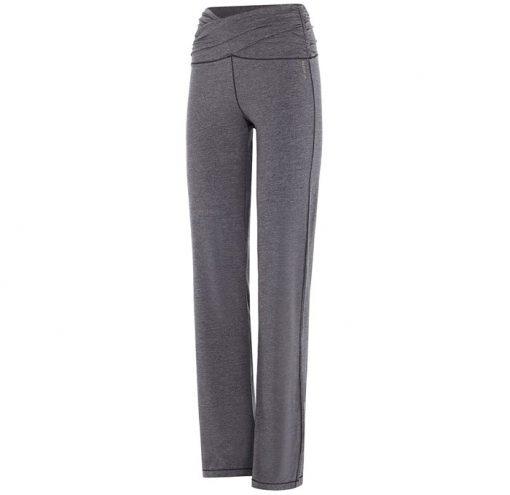 mandala fashion high rise yoga pants grey melange