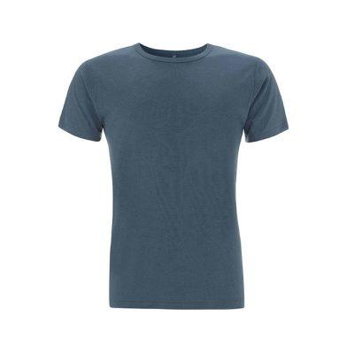 herren t-shirt bamboo blau
