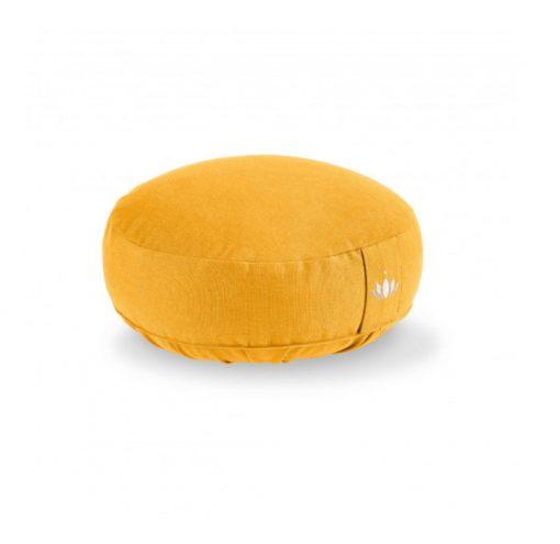 meditationskissen lotus safran gelb