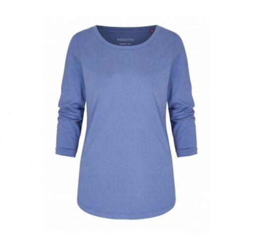 asquith 3 4 sleeve tee pearl surf blue