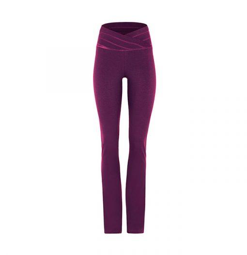 mandala fashion rollover pants purple 1