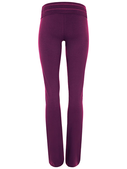 mandala fashion rollover pants purple 2