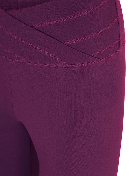 mandala fashion rollover pants purple 3