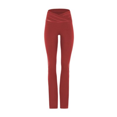 mandala fashion rollover pants rumba red