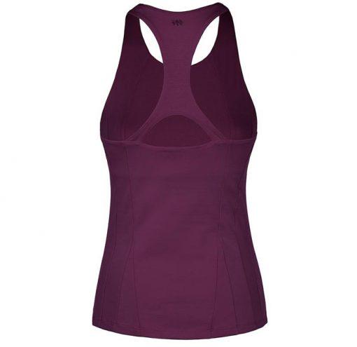 mandala fashion slim yoga top purple