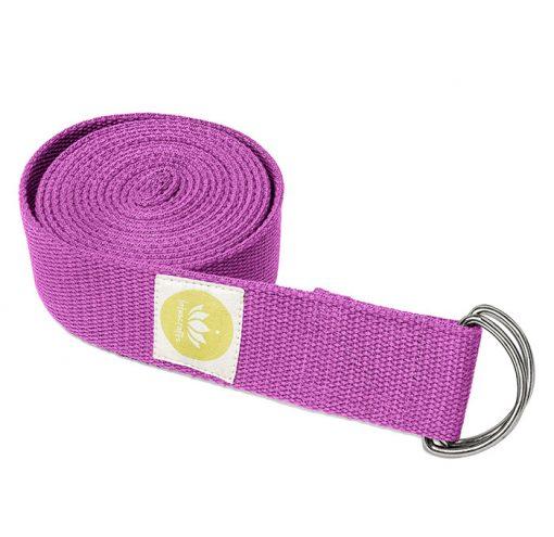 Yogagurt 244 cm Bio Baumwolle Violett