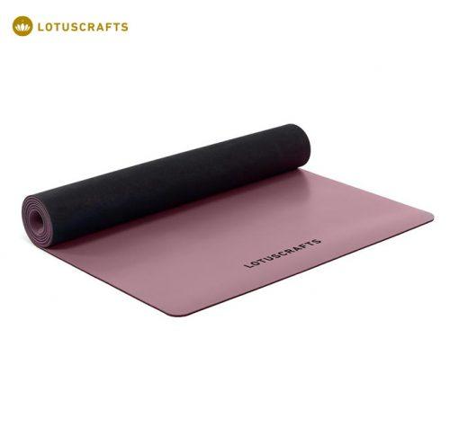 Eine Kautschukmatte ist die beste Wahl, wenn es um Rutschfestigkeit geht. Yogamatte ECO PRO aus 100% Naturkautschuk Aubergine