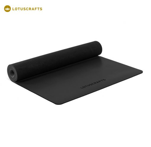 Eine Kautschukmatte ist die beste Wahl, wenn es um Rutschfestigkeit geht. Yogamatte ECO PRO aus 100% Naturkautschuk Schwarz