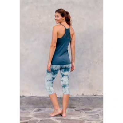 Jaya Leggings Lina 3/4 smokey blue
