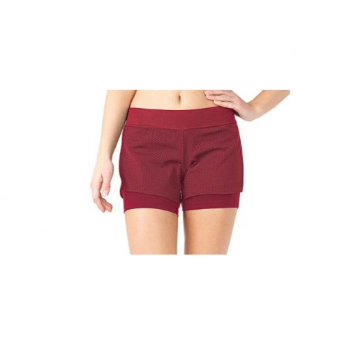 mandala fashion yoga short rumba red 2