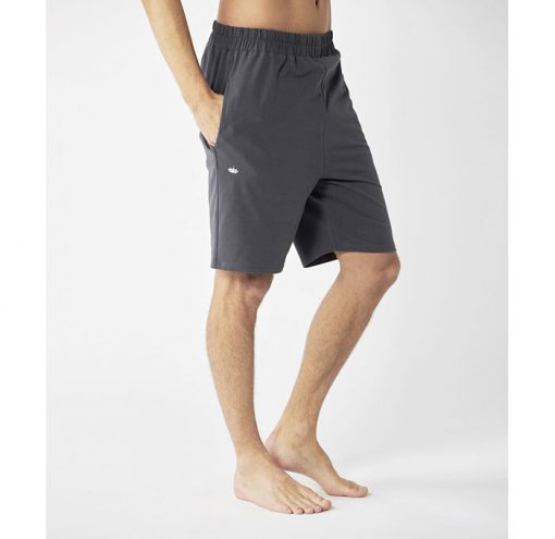 lotuscraft organic yoga shorts grau