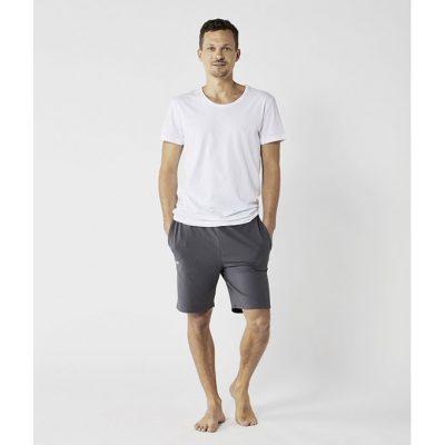 organic yoga shorts grau