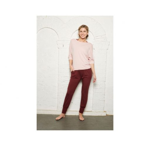 asquith long sleeve smooth you tee pearl pink 2