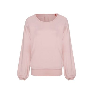 asquith long sleeve smooth you tee pearl pink