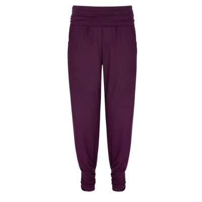 asquith yogahose long harem pants berry