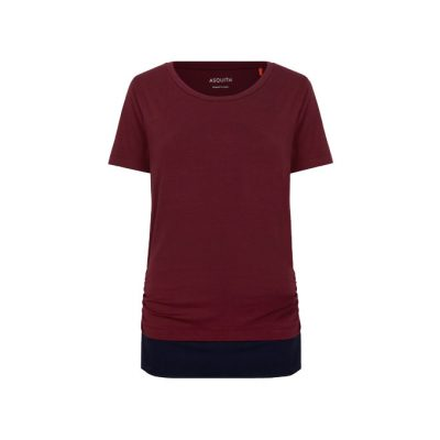 asquith bend it tee claret navy
