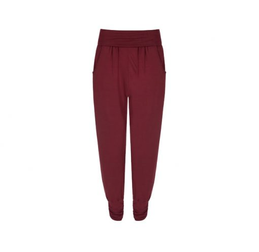 asquith long harem pants claret