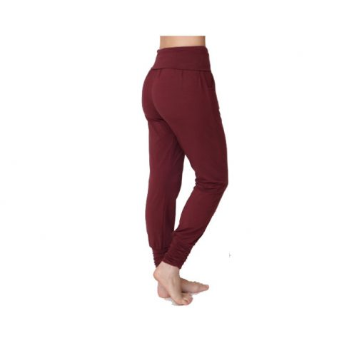 asquith long harem pants claret 3