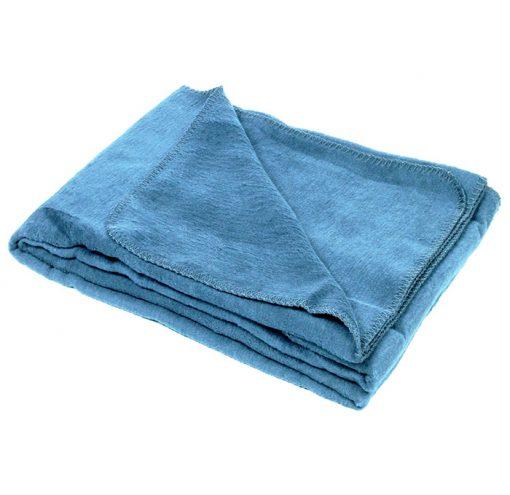 Baumwolle Yoga Decke OekoTex100 Meeresblau