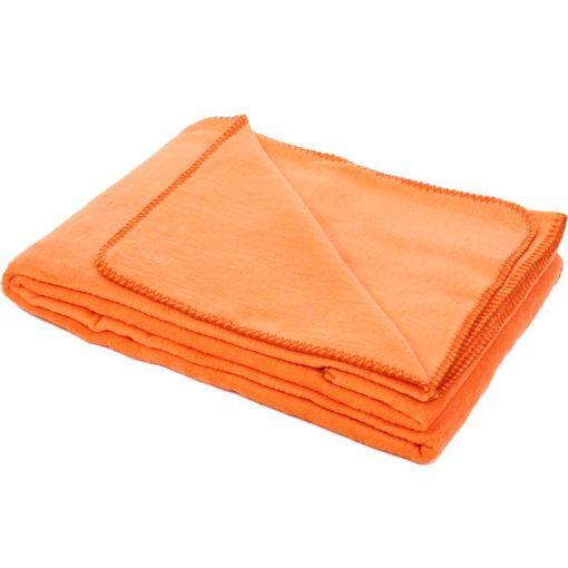 yogadecke baumwolle orange