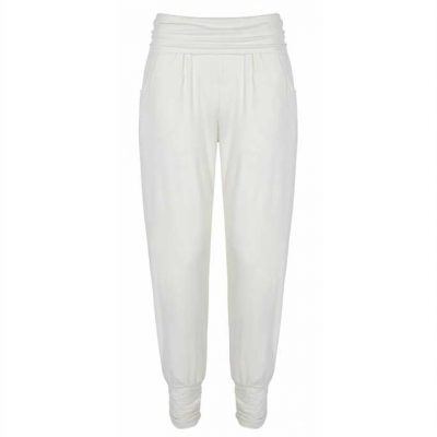 asquith yogahose long harem pants ivory