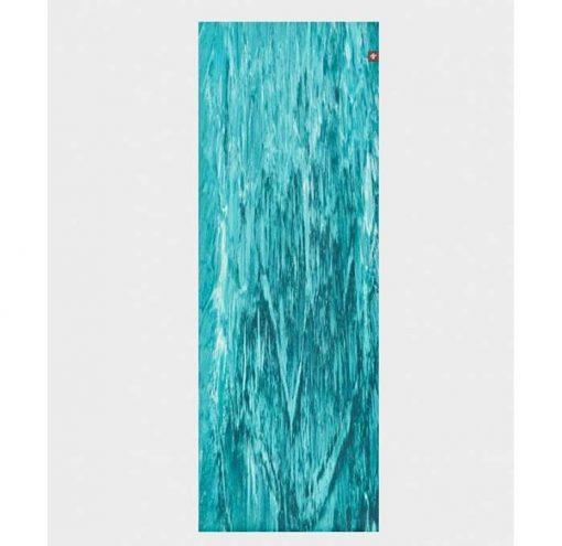 manduka eko superlite travel mat bondi blue marbled