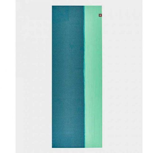 manduka eko superlite travel mat bondi blue stripes