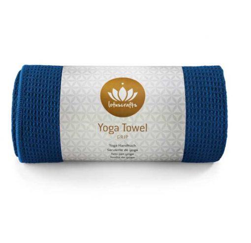 yoga handtuch lotuscraft grip himmelblau