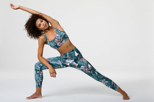 onzie high basic midi leggings tropical camo