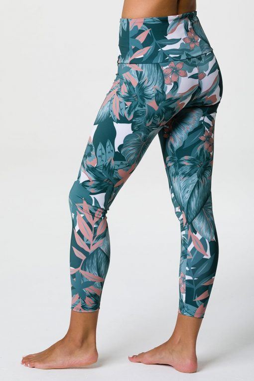 onzie high basic midi leggings tropical camo 3