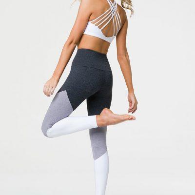 onzie high rise track leggings slate combo