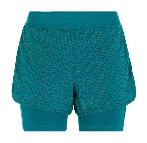 Yoga Fitness Shorts tropical green