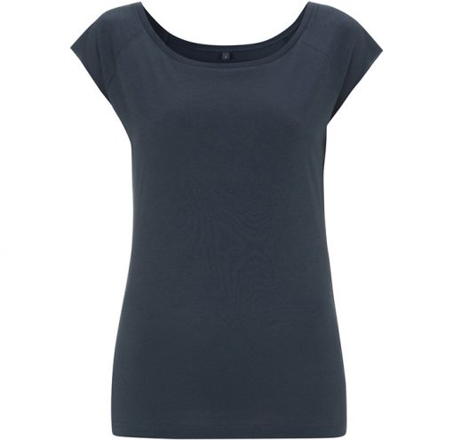 Damen Bamboo Viscose Raglan T-Shirt Denim Blue