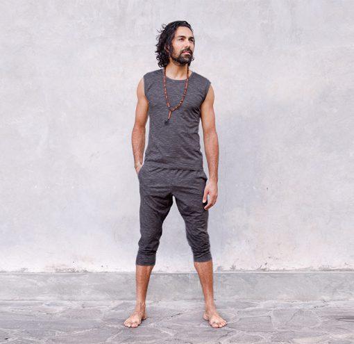 Jaya Fashion 3/4 Hose Herren Ali anthrazit melange lifestyle