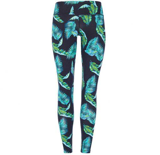 Mandala Fashion Join the Class Legging Jungle Leaf