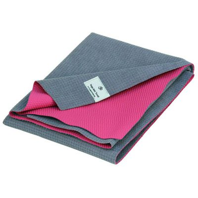 Profi Yoga Reise Handtuch Matte Pink