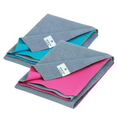 Profi Yoga Reise Handtuch Matte Türkis / Pink